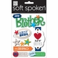 Soft Spoken Themed Embellishments - I Heart My Brother
