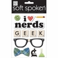 Soft Spoken Themed Embellishments - I Heart Nerds