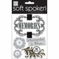 Soft Spoken Themed Embellishments - Neutral Memories