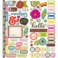Soho Garden Remarks Cardstock Stickers - Borders Accents & Phrases