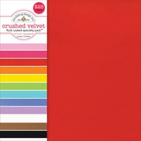 "Specialty Cardstock Value Pack 12""X12""-Flocked Crushed Velvet"