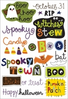 Spooky Town Rub-Ons - Witches' Stew Words