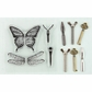 Stamp-N-Add Stamp & Metal Embellishment Set - Butterfly Wings