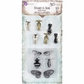 Stamp-N-Add Stamp & Metal Embellishment Set - Moth Wings