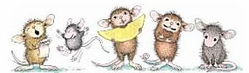 Stampabilities House Mouse Rubber Stamps - Click to enlarge