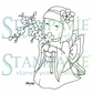 Stampavie Penny Johnson Clear Stamp - Blossom Girl 3-1/2""