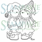 Stampavie Penny Johnson Clear Stamp - Elfin Children