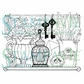 Stampavie Penny Johnson Clear Stamp - Garden Shelf