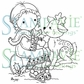 Stampavie Penny Johnson Clear Stamp - Gretchen w/Deer