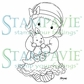 Stampavie Penny Johnson Clear Stamp - Kangaroo Hug 3-1/2""