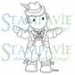 Stampavie Penny Johnson Clear Stamp - Lederhosen Boy 3-1/2""