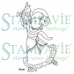 Stampavie Penny Johnson Clear Stamp - Little Dancer 3-1/2""