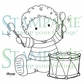 Stampavie Penny Johnson Clear Stamp - Little Drummer 3-1/2""