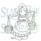 Stampavie Penny Johnson Clear Stamp - Milkmaid 3-1/2""