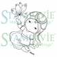 Stampavie Penny Johnson Clear Stamp - Mina With Butterfly 3-1/2""