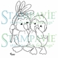 Stampavie Penny Johnson Clear Stamp - Mistletoe Penguins