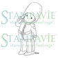 Stampavie Penny Johnson Clear Stamp - On Guard! 3-1/2""