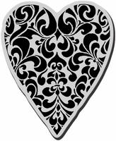 Stampendous Cling Rubber Stamp - Ornate Heart