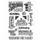 "Stampendous Perfectly Clear Stamps 4""X6"" Sheet - Smashing Notes"