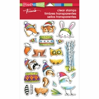 """Stampendous Perfectly Clear Stamps 4""""x6"""" - Woodsy Stack"""
