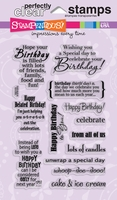 Stampendous Perfectly Clear Stamps - Birthday Assortment