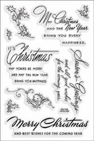 Stampendous Perfectly Clear Stamps - Christmas Wishes