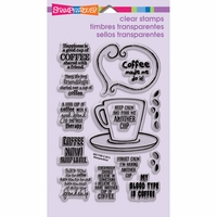 Stampendous Perfectly Clear Stamps - Coffee Talk