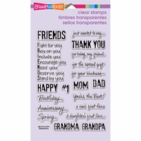 Stampendous Perfectly Clear Stamps - Happy Greetings