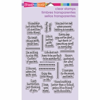 Stampendous Perfectly Clear Stamps - Life Words