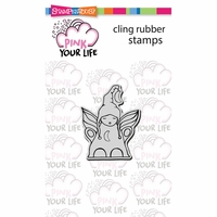 "Stampendous Pink Your Life Cling Stamp 4.75""x4.5"" - Little Angel"