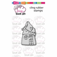"Stampendous Pink Your Life Cling Stamp 4.75""x4.5"" - Whisper House"