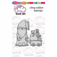 "Stampendous Pink Your Life Cling Stamp 6.5""x4.5"" - Papa Christmas"