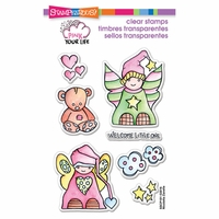 "Stampendous Pink Your Life Perfectly Clear Stamps 4""x6"" - Little Angels"