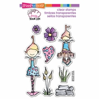 "Stampendous Pink Your Life Perfectly Clear Stamps 4""x6"" - Whisper Friends"