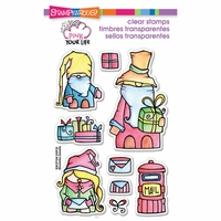 "Stampendous Pink Your Life Perfectly Clear Stamps 4""x6"" - Whisper Friends Christmas"