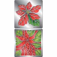 Stampendous Stencil Duo w/Pen & Cards - Poinsettia