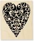 Stampendous Wood Rubber Stamp - Ornate Heart