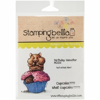 Stamping Bella Cling Rubber Stamp - Birthday Hamster