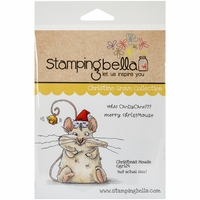 Stamping Bella Cling Rubber Stamp - Christmas Mouse