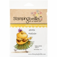 Stamping Bella Cling Rubber Stamp - Hula Chick