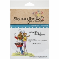 Stamping Bella Cling Rubber Stamp - Uptown Couple Bella & Barney Have A BBQ