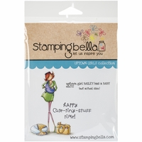 Stamping Bella Cling Rubber Stamp - Uptown Girl Bailey Has A Baby