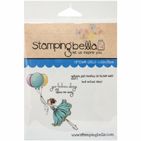 Stamping Bella Cling Rubber Stamp - Uptown Girl Bentley Gets Blown Away