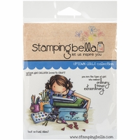 Stamping Bella Cling Rubber Stamp - Uptown Girl Callista Loves To Craft