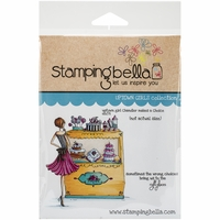 Stamping Bella Cling Rubber Stamp - Uptown Girl Chandler Makes A Choice