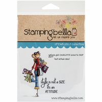 Stamping Bella Cling Rubber Stamp - Uptown Girl Charlotte Loves To Shop