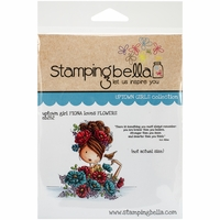 Stamping Bella Cling Rubber Stamp - Uptown Girl Fiona Loves Flowers