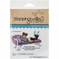 Stamping Bella Cling Rubber Stamp - Uptown Girl Mackenzie Loves Music