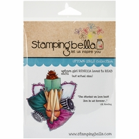 Stamping Bella Cling Rubber Stamp - Uptown Girl Rebecca Loves To Read