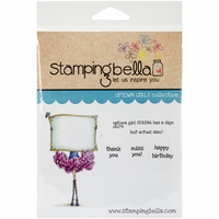 Stamping Bella Cling Rubber Stamp - Uptown Girl Serena Has A Sign
